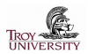 Spartan facing right with Troy University text