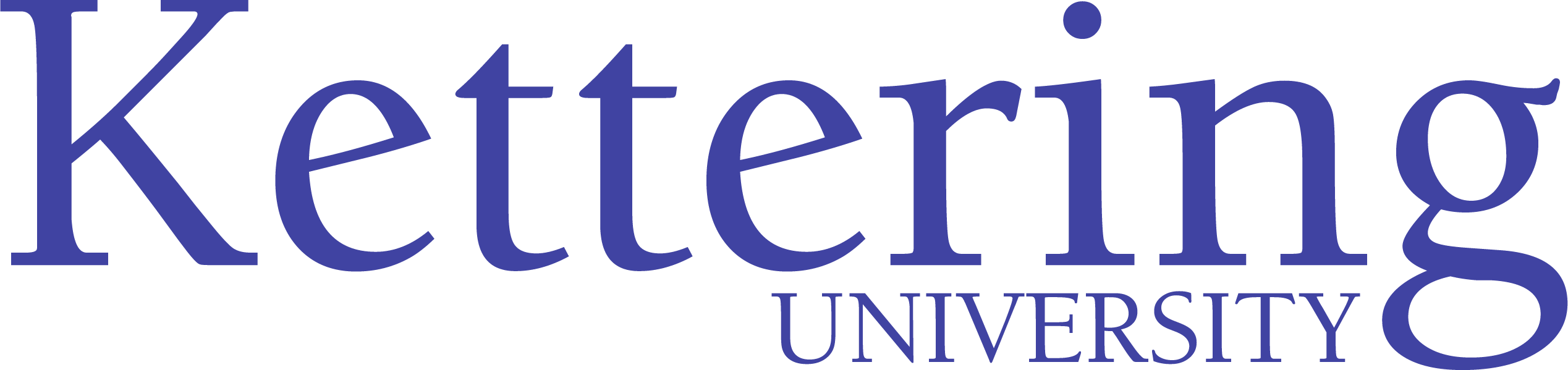Kettering University logo in the color purple